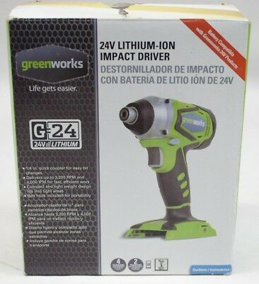 NEW Greenworks 24V Lithium-ion Impact Driver 37032a, Bare Tool