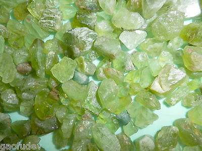 Olive Green Peridot Stone Gem Grade 0.4 to 4.5 g Small Pieces 50 gram Lot