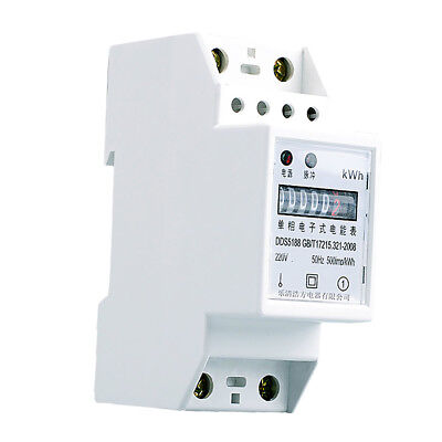 20(80)A Single Phase, Two Wire Din Rail KWH Watt Hour Din Rail Energy Meter