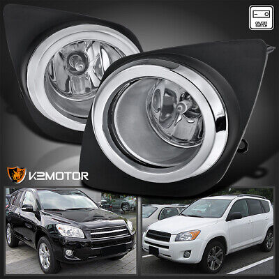 For 2009-2012 Toyota RAV4 Clear Bumper Fog Lights Driving Lamps+Switch+H11 Bulbs