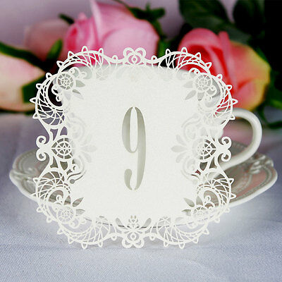 10pcs Wedding Table Centerpieces Laser Cut  Name Number Card Holder Party Decor