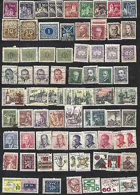 Lot of CZECHOSLOVAKIA used stamps - 4 pages SEE OTHER SCANS