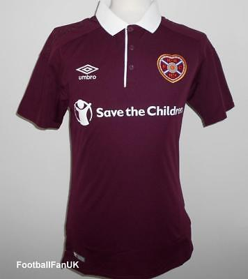 HEART OF MIDLOTHIAN Official Umbro Home Shirt 2017-2018 NEW Jersey Top Hearts FC