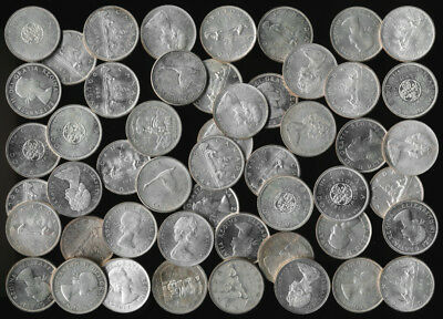 FIFTY CANADA .800 SILVER DOLLARS (30 TrOz Actual Silver Wt) NO RESERVE