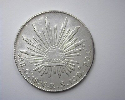 Mexico 1896-Gors Silver 8 Reales  Choice Uncirculated