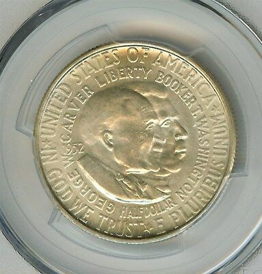 1952-S Washington/carver Silver 50 Cents  Pcgs Ms66