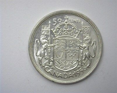 Canada 1956 Silver 50 Cents  Choice Uncirculated