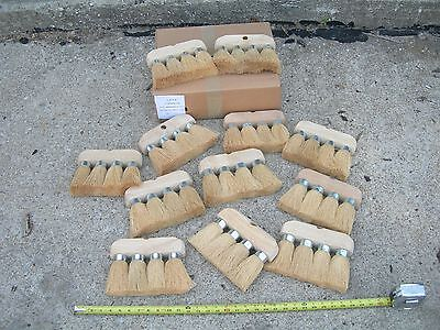 12 NEW ROOFING BRUSH 4 KNOT 8x6 3/4 MASONRY UTILITY CLEANING ROOF TOOL BRUSHES=