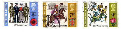 GB Stamps SG887-889 1971 British Anniversaries Events. Used