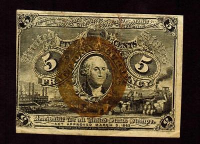 5 Cent Fractional Currency 2nd issue **MORE CURRENCY FOR SALE**