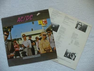 "Ac/dc ""dirty Deeds Done Dirt Cheap"" 1976 Ger Original Lp Hardrock Fuzz Hammer"