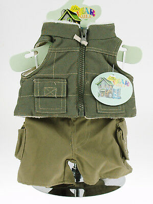 Teddy Bear Clothes -- Country Outfit with trousers and lined, zipped gilet. New
