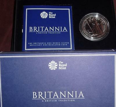 2015 silver Britannia in Royal Mint box with certificate