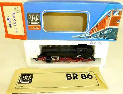 BR 86 1615-3 Steam Locomotive with Light BTTB 5453110 TT 1:120