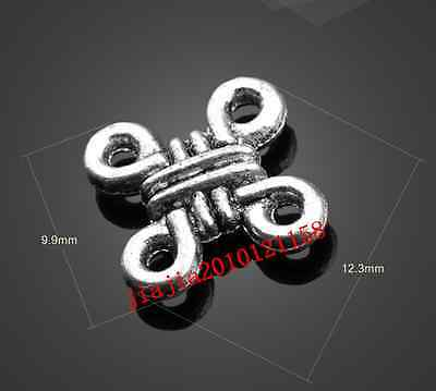 PJ790  20pc Retro Tibetan Silver( Chinese knot )Jewelry Accessories wholesale