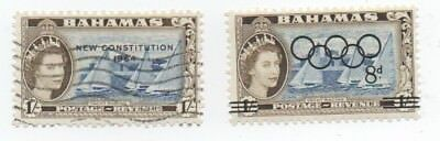 Bahamas 1964 1s  mnh olympic games + 1/- one shilling New Constitution used