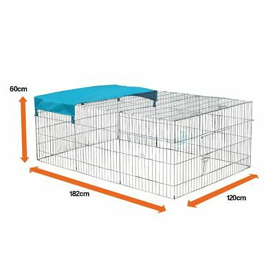 Large Enclosed Pet Playpen Run Puppy Dog Cat Rabbit Foldable Metal Chicken Fence