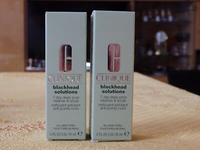 Clinique  Blackhead Solutions 7 day deep pore cleanse & scrub 2x 15ml  NEU OVP