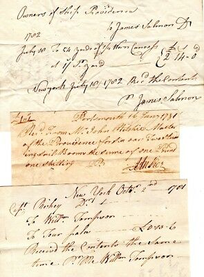 1781, HMS Providence, British Troop Transport, Captain Ritchie, supply orders