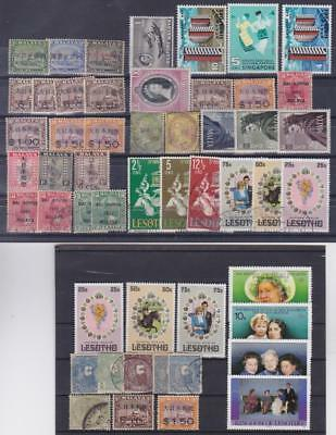 BRITISH COMMONWEALTH + Other countries Selection of 64v + 3 sheetlets B25060