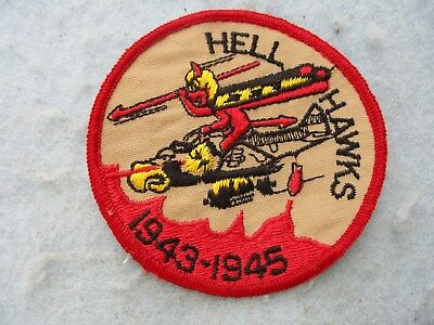WWII US Air Corps Patch 365th Fighter Group 9th AAF P47 Hell Hawks Reunion WW2