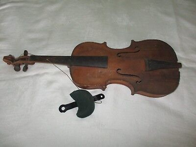 Vintage Violin Shell for Repair or Parts