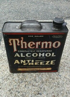 1920s THERMO Alcohol Anti-Freeze (1-gal) Tin Publicker PA
