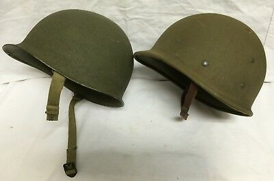 WWII EARLY US M1 HELMET FRONT SEAM FIXED BALE HAWLEY 2nd LINER 1942 NAMED 191B