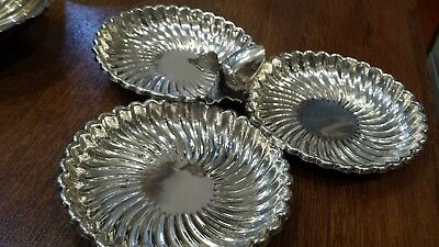 115g ELEGANT CENTER SERVER APETIZERS 3 HOLES  STERLING SILVER: Pasgorcy HM