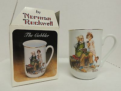 Norman Rockwell Collectible Classic Mug Cup The Cobbler NIB