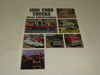 Vintage 1966 Ford Trucks And All Purpose Vehicles Brochure