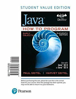Java How to Program, Early Objects, Student Value Edition (11th Edition)