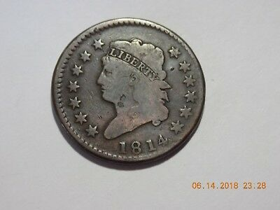 1814 Classic Head Large Cent - Crosslet 4 - VG