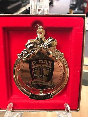 very rare ZIPPO D-DAY ANNIVERSARY ornament 1944-1994 in box WITH CARD