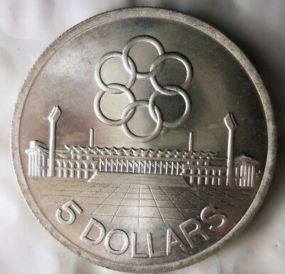 1973 SINGAPORE 5 DOLLARS - SILVER - Huge Low Mintage Crown Coin - Lot #615