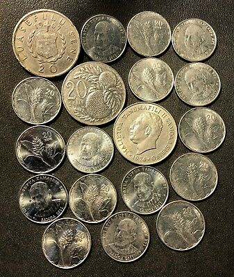 Old Samoa Coin Lot - 1967-Present - 19 Very Rare Coins - Lot #615
