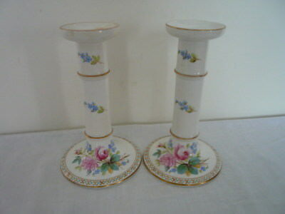 C19Th Servres Style Porcelain Candlesticks