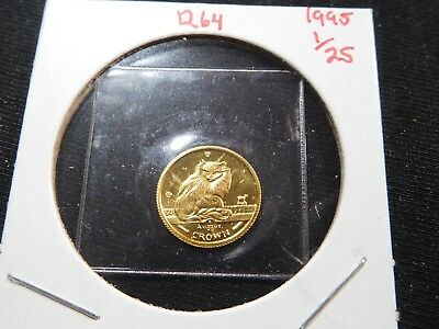 R64 Isle of Man 1995 GOLD 1/25 Oz. Turkish Cat Crown Proof In Original Seal