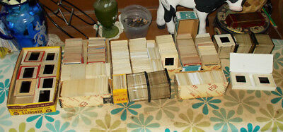 HUGE LOT 1300+ Amateur 35mm Vintage Slides Photos Kodachrome Travel Cars Family
