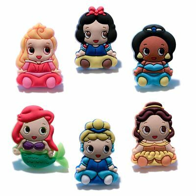 24pcs Lot Baby Princess PVC Shoes Charms fit for Croc & Jibbitz Wristbands Gifts