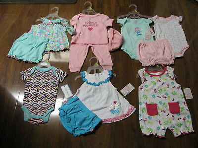 13 Pc Lot of Baby Girls Spring Summer Clothes Size 3/6 Months 3/6M New