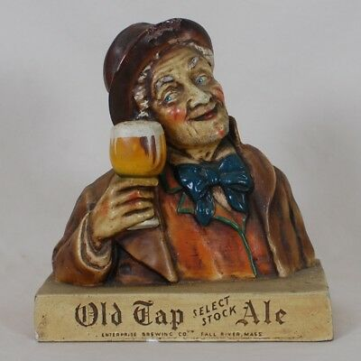 Old Tap Select Stock Back Bar Figurine Statue Enterprise Brewing Fall River MA
