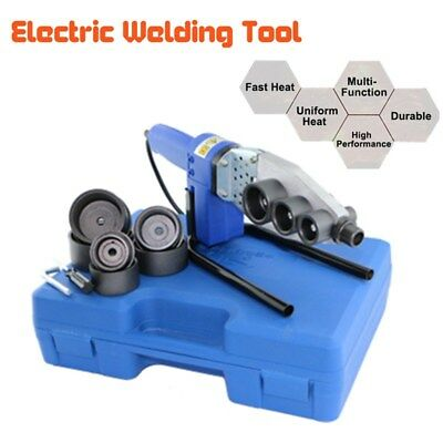 Temp Adjustable Electric Pipe Welding Machine Heating Tool PPR Tube + Heads+ Box
