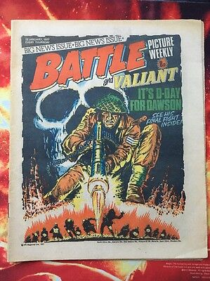 BATTLE COMIC Picture Weekly & Valiant. 22 JANUARY 1977. FN +