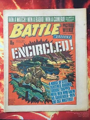 BATTLE COMIC Picture Weekly & Valiant. 30 JULY 1977. FN +/VFN