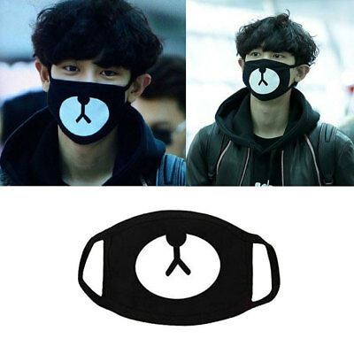 Unisex Women Black Bear Cosplay Party Outdoor Cool Anti Dust Cotton Mouth Mask