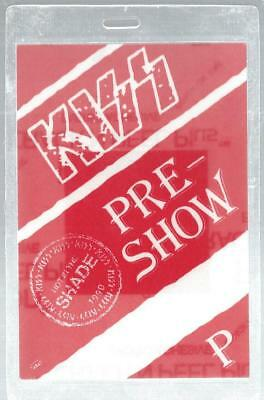1990 Kiss Hot In The Shade Tour Backstage Pass Laminate