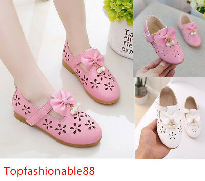 New Children Girls Leather Shoes Bow Kids Princess Casual Shoes Students Shoes