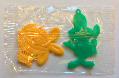 R&L CEREAL TOY 1970s ~ MIP DINGLE DANGLES ~ DIG-EM FROG + ZIPPY ZEPPELIN