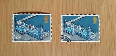 Complete British mint & used stamp set: 1975 Inter-Parliamentary Union Conf.